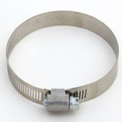 "Hose Clamp SS, #  48, 1-1/2"" - 3-1/2"", With SS Screw"