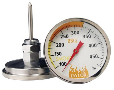 Thermometer, Grill/Smoker, 100 - 500 Deg F