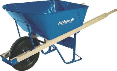 Wheelbarrow, 6 CuFt, Steel, Jackson