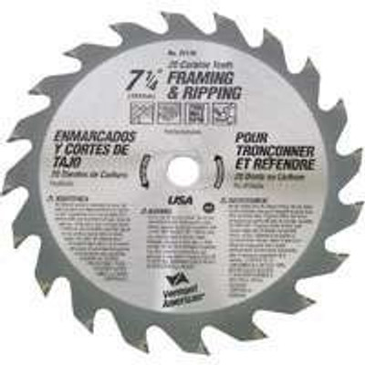 "Circular Saw Blade, 7-1/4"",  24 Tooth"