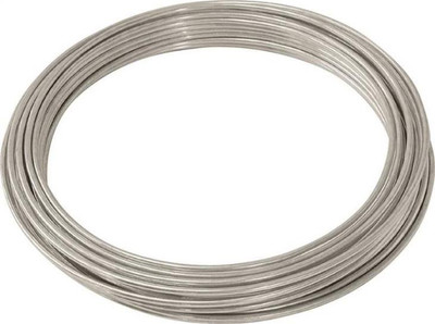 Wire,   9 Ga, Solid, Galvanized,  50'
