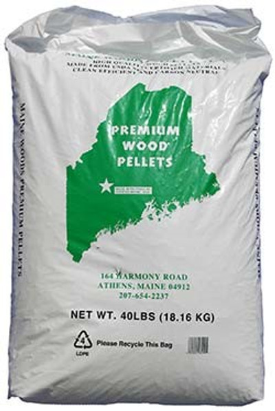 Maine Woods Premium Wood Pellet Fuel, 40 Lb