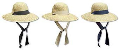 Ladies Garden Rush Straw Hat With Basic Band