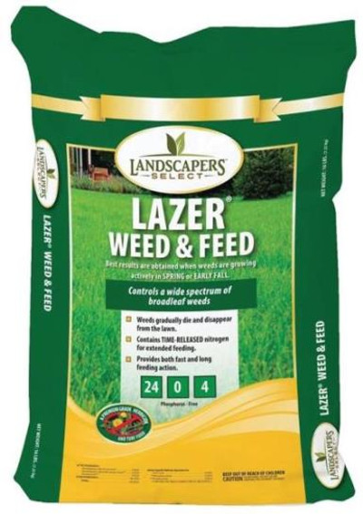 Lawn Fertilizer With Weed Control, 24-0-4, 16 Lb, 5,000 Sqft