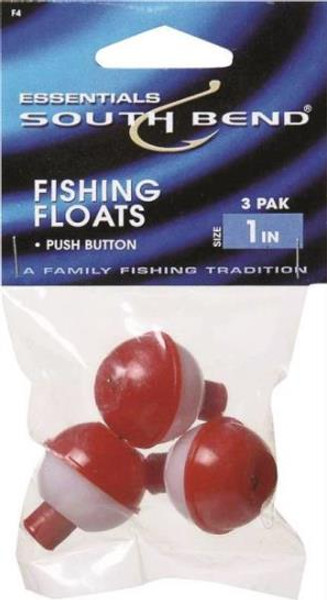 "Fishing Floats 1"" Red/White 3 Pk"
