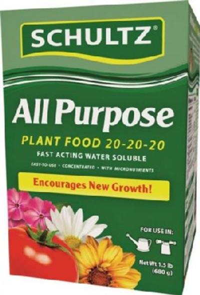 Plant Food, 20-20-20, 1.5 Lb