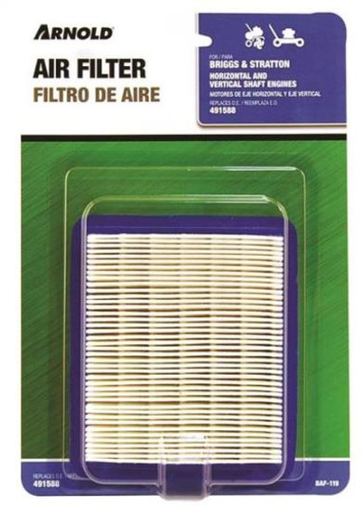 "Briggs & Stratton Air Filter "" 491588"", 3.5 - 5.5 HP Engines"