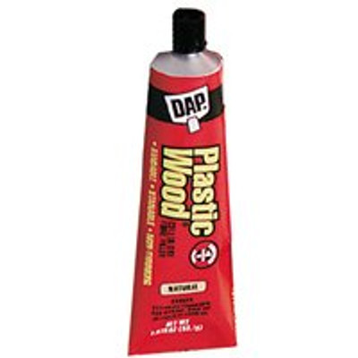 Plastic Wood Filler, 1.875 Oz Tube, Natural Color