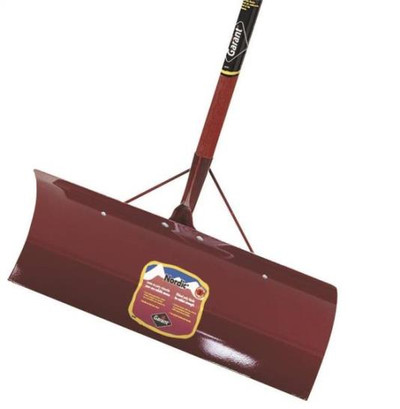 "Snow Pusher, 24"", Steel Blade, D-Handle"
