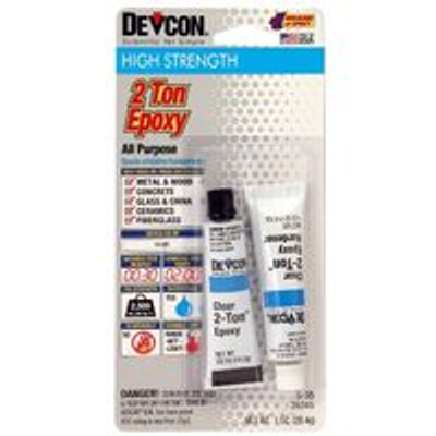 Epoxy 2 Ton Two Tube Set, Clear, 1 Oz