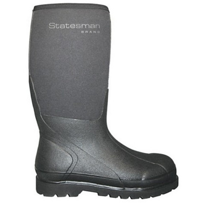 Statesman 16 Inch AG Runner Boot Mens  8 - Womans 9 Black