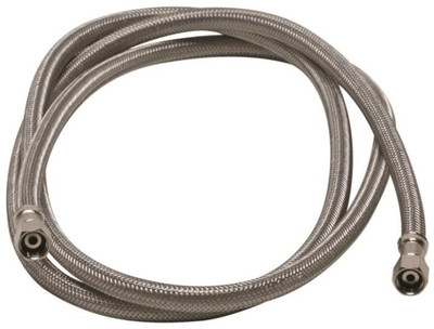 "SS, Ice Maker Supply Line, 10',  1/4"" X 1/4"" Compression"