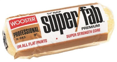 """Wooster Super Fab 9"""" x 3/8"""" Nap, Paint Roller Cover"""
