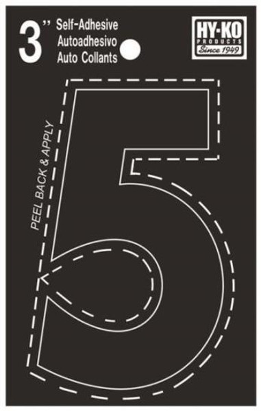 "Boat Number, ""5"", Die Cut, 3"" High"
