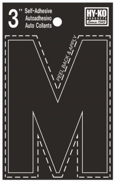 "Boat Letter, ""M"", Die Cut, 3"" High"