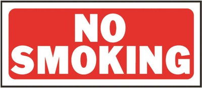 "No Smoking Sign, 14"" x 6"""
