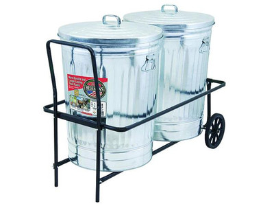 Trash Can Caddy, Two 30 Gal Trash Cans Fit For Easy Moving