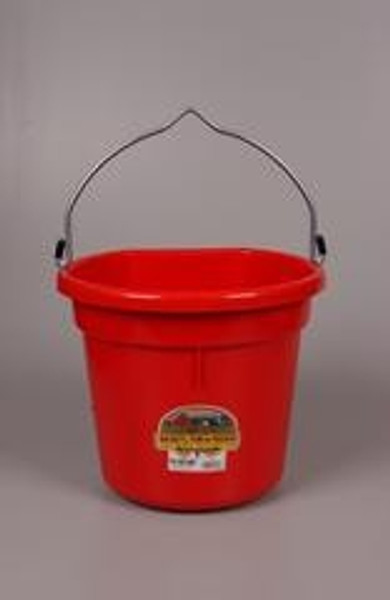 Bucket Flat Back 20 Qt Red