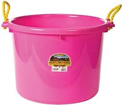 Muck Tub, 70 Quart, Hot Pink