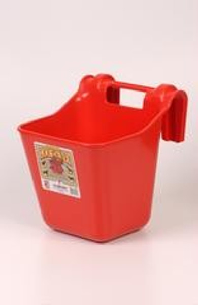Feed Bucket 12 Qt Red Over The Fence Mount
