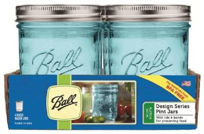 Ball, Cannng Jar, Pint, Blue, 4 Pack