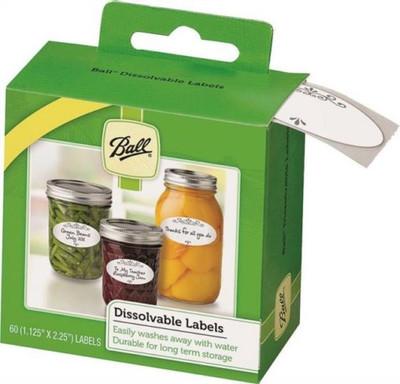 Ball, Dissolvable Canning Jar Labels