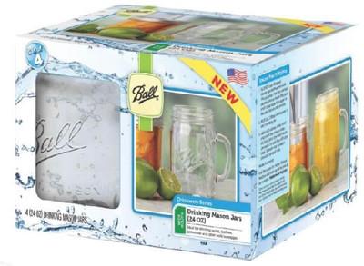 Ball, Canning Jar Mug, 24 Oz, 4 Pack