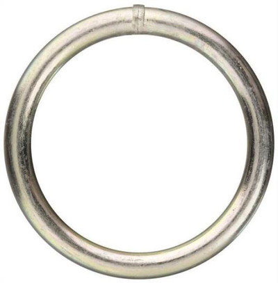 Welded Ring, Steel, Zinc Plated, 2""
