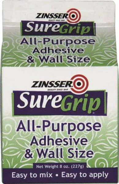 Zinsser, Suregrip Wallpaper Adhesive - Size, 8 Oz