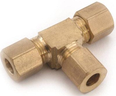 "Compression Fittings, 3/8"", Tee, Brass"
