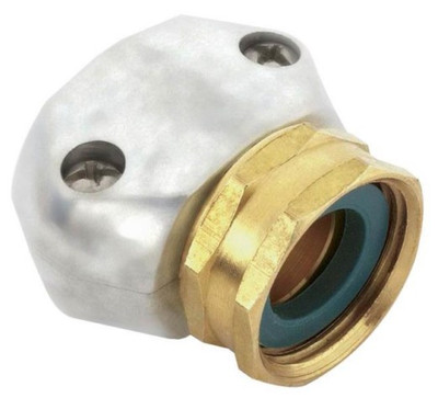 "Gilmour, Female Hose Connector, Zinc, Fits 5/8"" or 3/4"" Rubber or Vinyl Hoses"