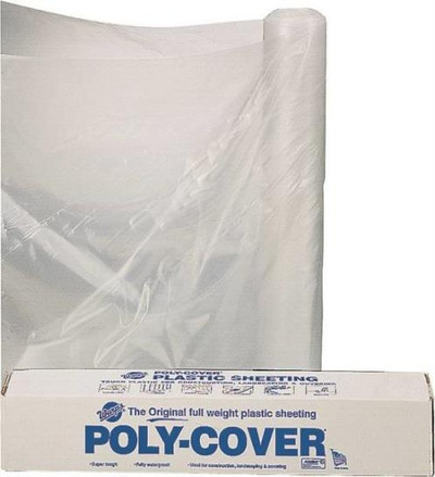 Plastic Sheeting, 4 Mil, 10' x 100', Clear