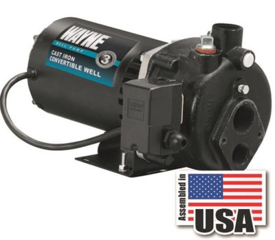 "Jet Pump, 1/2 HP, 1-1/4"" Inlet x 3/4"" Outlet, 50 PSI"