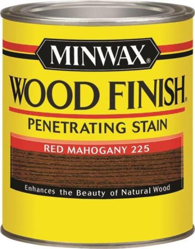 Minwax, Red Mahogany, Wood Stain, Quart