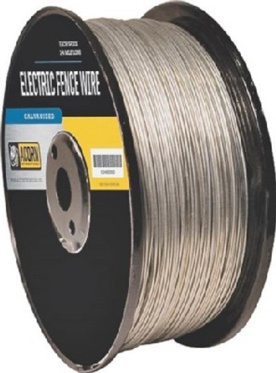 Electric Fence Wire, 19 Ga, 1/2 Mile, Galvanized
