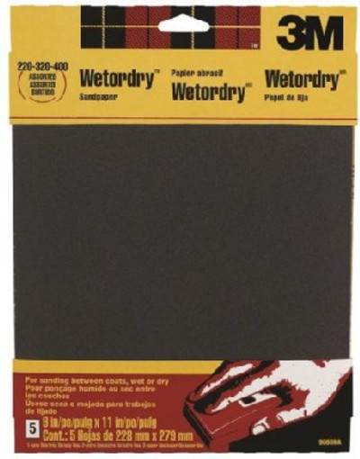 3M, 9088NA, Wet/Dry Sand Paper, 11 in x 9 in, Assorted Grit