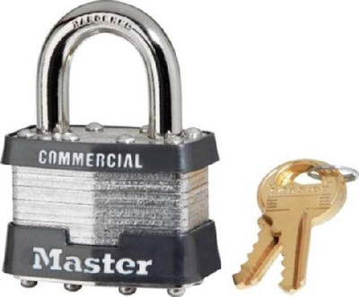 Master Lock, 1 KA # 2043, Pad Lock, Keyed Alike, With 2 Keys
