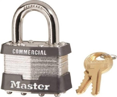 Master Lock, 1 KA # 2081, Pad Lock, Keyed Alike, With 2 Keys