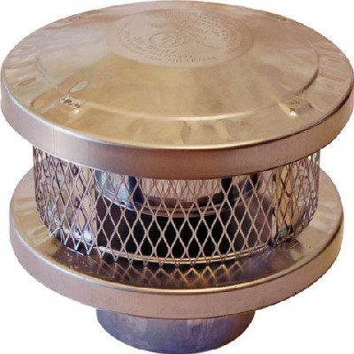 "Chimney Topper, 6"" Round,  With Spark Arrester"