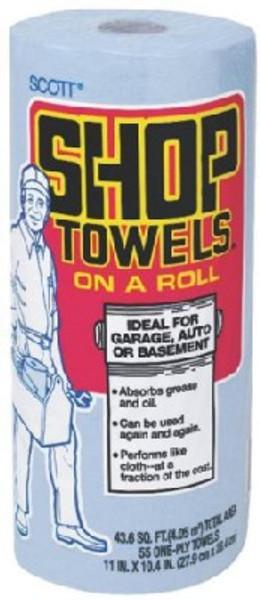 "Scott Shop Towels, Jumbo Roll, 11"" x 10.4"", 43.6 Sq Ft"