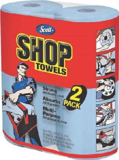 "Scott Shop Towels, Jumbo 2 Pack, 11"" x 10.4"", 55 Count Per Roll"