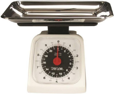 Kitchen Scale, Analog, 22 lb, 5-1/2 in L x 5 in W
