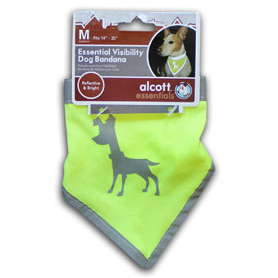 Dog Bandana, Neon Yellow, Medium