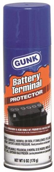 Gunk Model BTP4, Automotive Battery Terminal Protector Aerosol Spray, 4.5 Oz