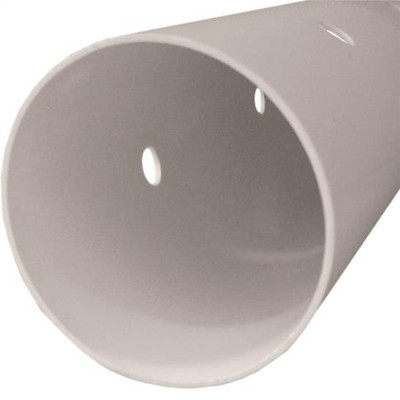 "PVC S&D, 3"" x 10' , Pipe, Perforated, Bell End"