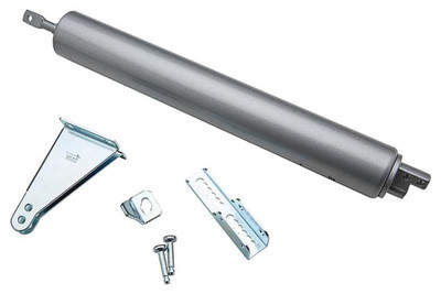 Pneumatic Door Closer With Shock Absorber, Mill Finish