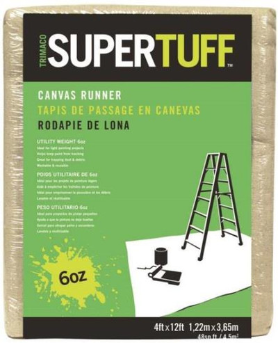 Drop Cloth, 4' x 12', Cloth, Super Tuff