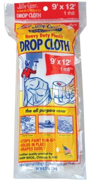 Drop Cloth, 9' x 12' Clear Plastic, 1 Mil