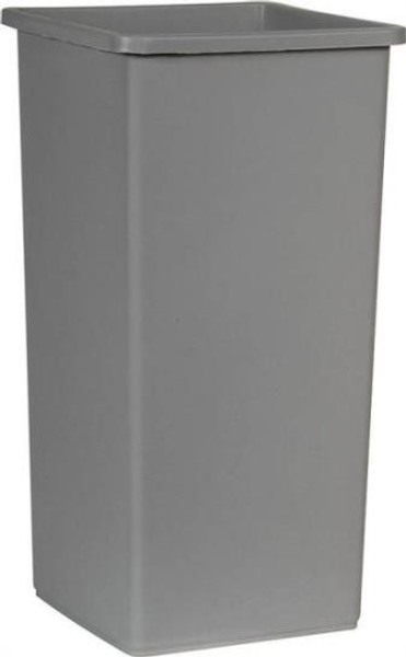 Trash Can, 23 Gallon, Commercial, Gray