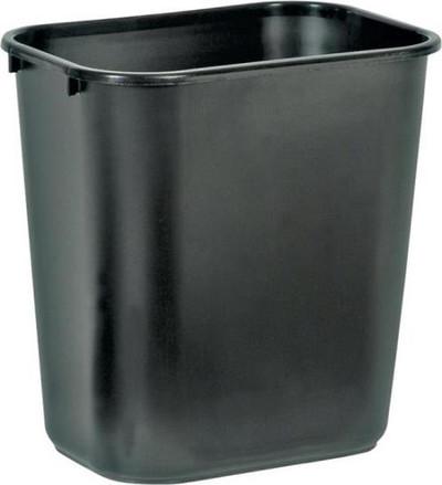 Trash Can, 28-1/8 Quart, Wastebasket, Black
